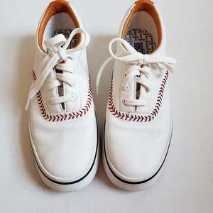 Keds Vintage White Leather Baseball Stitch, 9